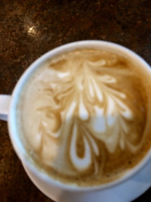 Cup of latte I had at B' 24's in Ypsilanti
