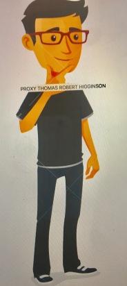 PROXY THOMAS ROBERT HIGGINSON-THINKING