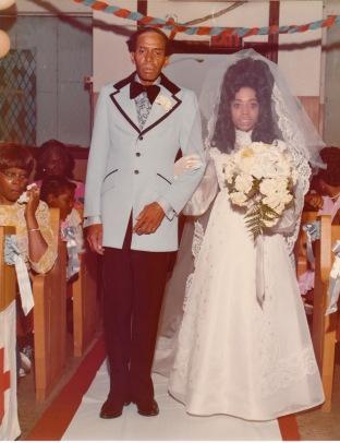Calvin Theodore Brasier and Thylas Brasier at her wedding
